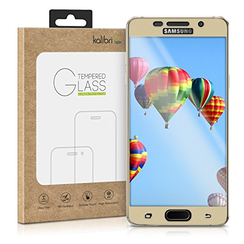 kalibri-Echtglas-Displayschutz-fr-Samsung-Galaxy-A5-2016-3D-Curved-Full-Cover-Screen-Protector-mit-Rahmen-in-Gold