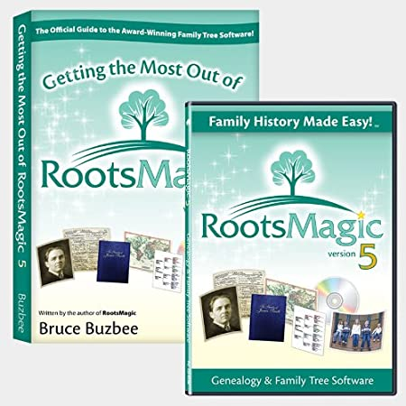 RootsMagic 5 Family Tree Genealogy Software / Book Bundle