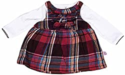 Toffyhouse Baby Girls' Dress (TF5324.BRICK.1-3, Red, 9-12 Months)