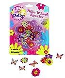 Bike Wheel Spokies - Ride Along Dolly Flower Wheel Spoke Attachments (24 pcs - 12 Different Designs)