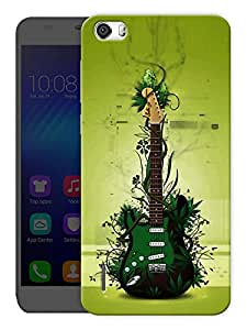 """Humor Gang Green Eco Friendly Guitar - Music Printed Designer Mobile Back Cover For """"Huawei Honor 6"""" (3D, Matte, Premium Quality Snap On Case)"""