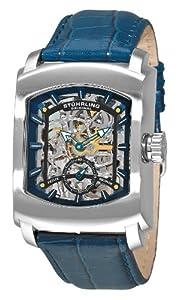 Stuhrling Original Men's 317.3315C6 Classic Metropolis Midtown Banker Mechanical Skeleton Blue Watch