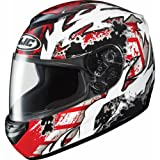 HJC Skarr Men&#8217;s CS-R2 Sports Bike Racing Motorcycle Helmet &#8211; MC-1 / Large