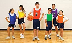 Sportime Numbered Pinnies - Full Size - Set of 12 - Blue