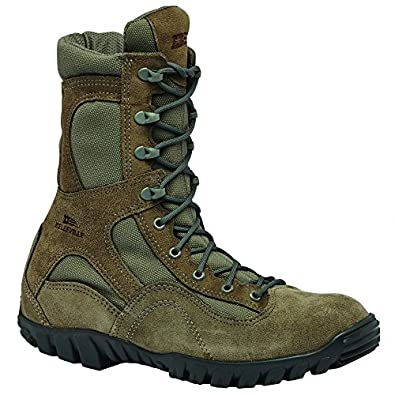 Belleville Men's Waterproof Assault Flight Olive Green Leather Boots 5.5R
