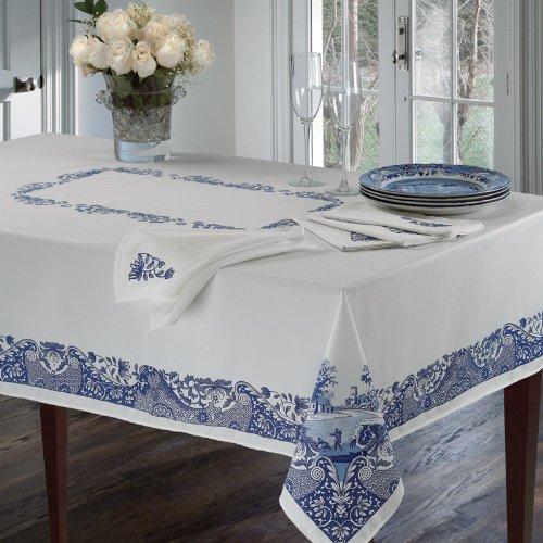 Spode Table Linens Blue Italian 60 X 144 Tablecloth