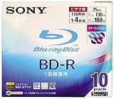 Sony BD-R 25GB 録画用 4倍速対応 追記型 5mmスリムケース カラーコレクション 10枚パック 10BNR1VBXS4
