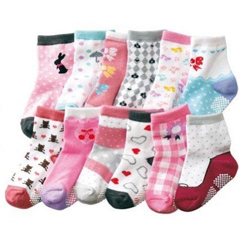 Deer Mum 6X Pairs Girl'S Different Patterns Socks(4Y-6Y) front-573510