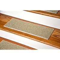 Dean Indoor/Outdoor Pet Friendly Tape Free Non-Slip Carpet Stair Step Treads - Seashore Beige 23