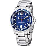 Classic styling and high performance add up to an outstanding mens stainless steel diver watches for your land or sea adventures. This mens stainless steel watch, from Stuhrling Original's Specialty Grand Regatta series, places a large round stainles...