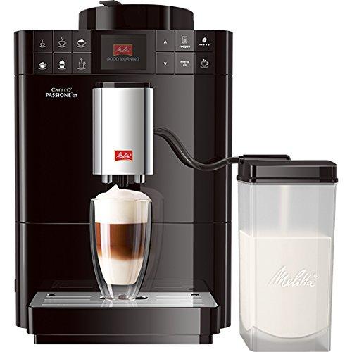 Melitta F53/1-102 Platzsparender Kaffeevollautomat Caffeo Passione One Touch, Milchbehälter, Schwarz thumbnail