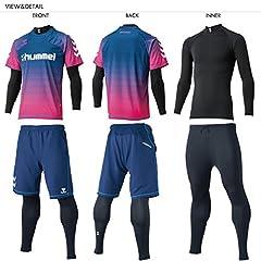 hummel(ヒュンメル) 上下セット 4点セット プラシャツ プラパンツ インナーセット メンズ hap7092-hap2042
