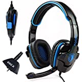 Sades Sa 708 Stereo Hi Fi Gaming Headphone Headset With Microphone For Xbox 360/Pc/Notebook/Laptop