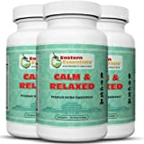 Calm and Relaxed- 3 Bottles/ 1 Month Supply- Overcome Anxiety, Stop Panic Attacks and Stay Calm Using This All Natural Herbal Remedy For Problems Such As Generalized Anxiety Disorder and Social Anxiety.