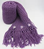 Handmade Pure Acrylic Scarf for Girls and Teens - Proud in Purple (Long size)