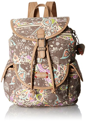 Sakroots Artist Circle Small Flap Fashion Backpack, Slate Songbird Sequins, One Size