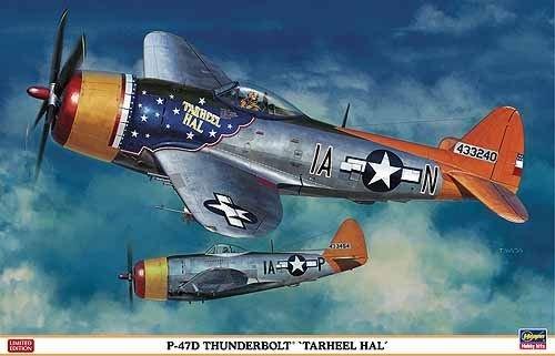 Hasegawa 1:32 - P-47D Thunderbolt Tarheel Hal - H-ST08218