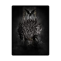 Sysuser Sword Thrones Crown Custom Blanket 58x80 Inch Creative Cotton Blanket Indoor / Outdoor Blanket
