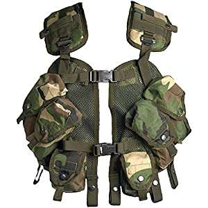 Gilet tactique militaire ajustable Multi-poches Airsoft Motif camouflage