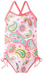 Kanu Surf Baby Girls\' Secret Garden 1 Piece Swimsuit, Pink, 12 Months