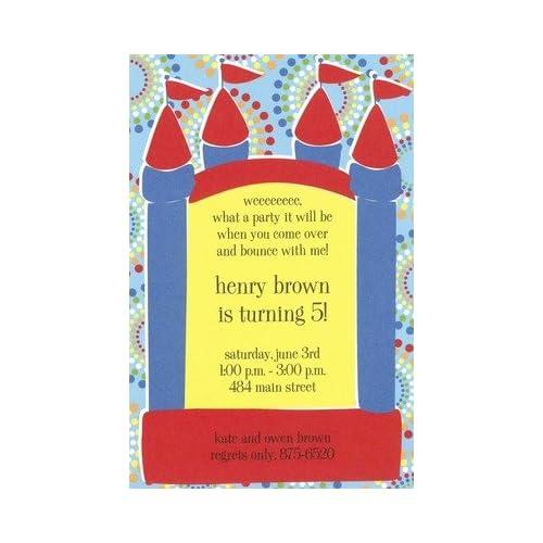 Bouncy Boy Custom Personalized Birthday Invitation By Inviting Company