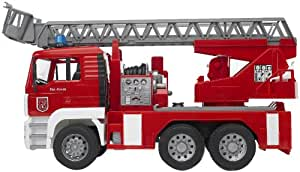 Bruder 02771 MAN Fire Engine with Slewing Ladder, Water Pump, Light and Sound