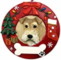 Wire Fox Terrier Christmas Ornament Wreath Shaped Easily Personalized Holiday Decoration Unique Wire Fox Terrier Lover Gifts