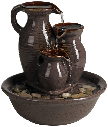 Triple Jug Indoor/Outdoor Tabletop Fountain