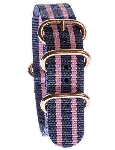 yves-camani-uni-radisson-montres-de-20-mm-de-bracelet-de-lotan-en-nylon-avec-bleu-rose-neuf