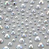Crystals & Gems UK 325 Gemmes Auto-adhésives En Strass Diamant Transparent AB À Coller Vajazzle Décoration Mariage