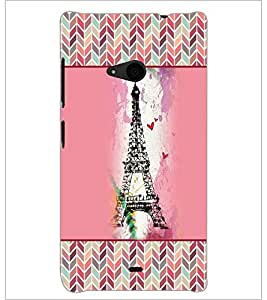 PrintDhaba Tower D-4152 Back Case Cover for MICROSOFT LUMIA 535 (Multi-Coloured)