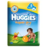 Huggies Super Dry Size 5, A Total of 220 Nappies. (5 x 44)