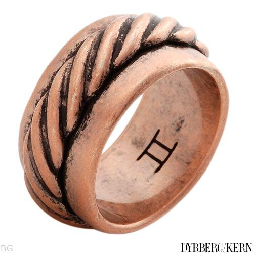 DYRBERG/KERN of DENMARK! Kaleidoscope Collection Polished and Assembled by Hand Beautiful Antique Finish Bronze Plating Ring (Size 6.5)
