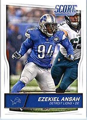2016 Score #115 Ezekiel Ansah Detroit Lions Football Card