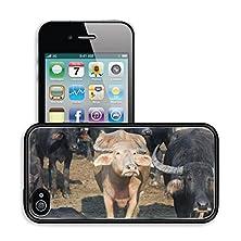 buy Luxlady Premium Apple Iphone 4 Iphone 4S Aluminum Backplate Bumper Snap Case Image Id 21005881 White Water Buffalo Among Black Water Buffalo