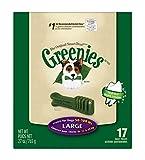 GREENIES Original Canine Dental Chews - Large Size - Treat TUB-PAK Package (27 oz.) - 17 Count