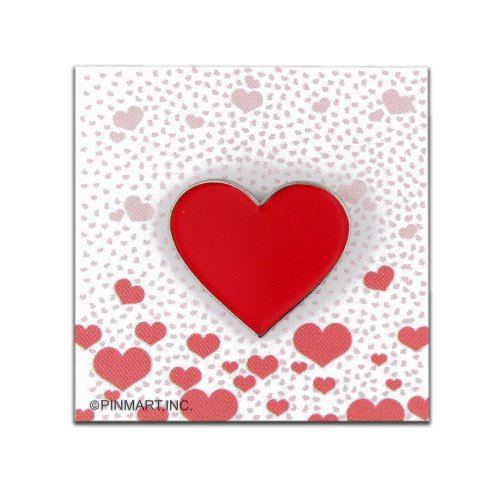 Red Heart Presentation Pin and Card