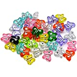 100 X Mixed Acrylic Butterfly Beads 11 X 9 mm