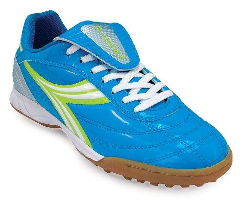 Diadora Women's Evento Soccer Cleat Shoes (7.5 B(M) US, Blue / Green / Silver)