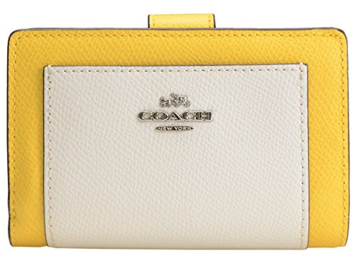 [コーチ] COACH 財布(二つ折り財布) F53839 カナリーマルチ ラグジュアリー カラーブロック クロスグレーン レザー ミディアム ジップ ウォレット レディース [アウトレット品] [ブランド] [並行輸入品]