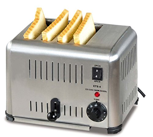 4-slice Toaster All Stainless Steel Kitchen Appliances Dining Bar Use