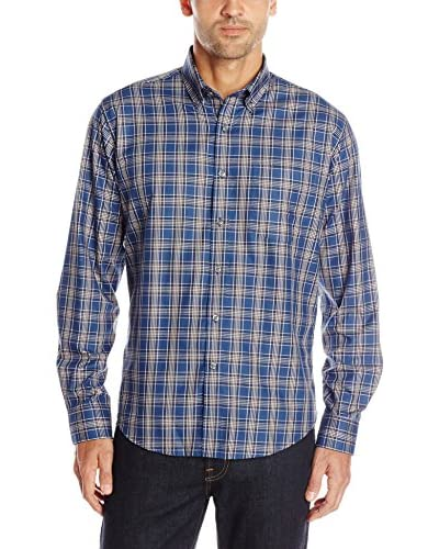 Alex Cannon Men's Long Sleeve Button Down Plaid Shirt