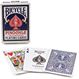 Bicycle Pinochle Standard Index Playing Cards - 1 Sealed Blue Deck