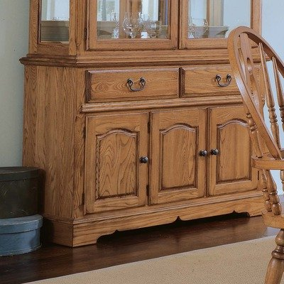 Cheap Thresher's Too Small Buffet in Distressed Antique Oak (85-650)