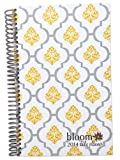 2014 bloom Calendar Year Daily Day Planner Fashion Organizer Agenda January 2014 Through December 2014 Lattice Damask Stamp