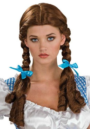 Adult Dorothy Costume Wig From Wizard Of Oz Light Brown 51762