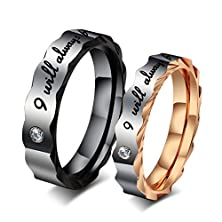 buy Anazoz Jewelry Couple Rings For Men Women Stainless Steel Cz Engagement Ring Black / Gold