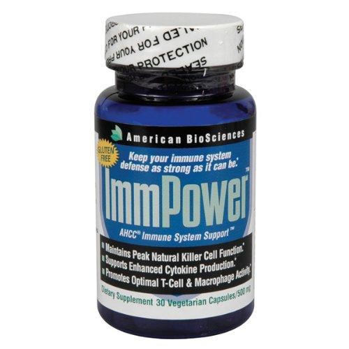 American Biosciences, ImmPower, AHCC Immune System Support, 500 mg, 30 Veggie Caps