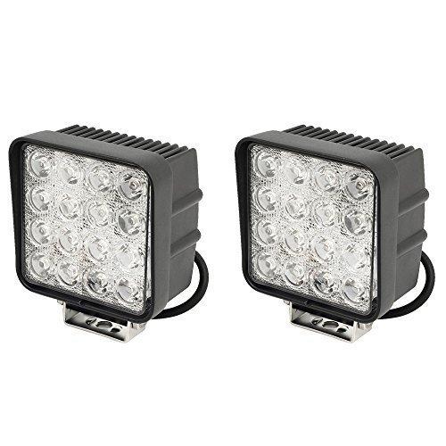 2-X-LED-48W-Arbeitsscheinwerfer-Arbeitsleuchte-3800lm-6000K-67IP-Rckfahrscheinwerfer-Traktor-Bagger