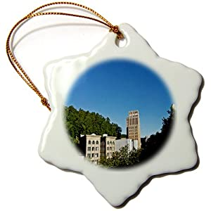 orn_32457_1 Lee Hiller Photography Hot Springs Arkansas - Hot Springs Arkansas Medical Arts Building Skyline - Ornaments - 3 inch Snowflake Porcelain Ornament